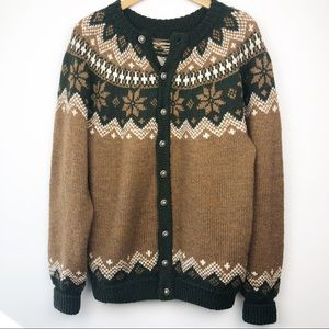 Vintage Fair Isle Cardigan Oversize Sweater